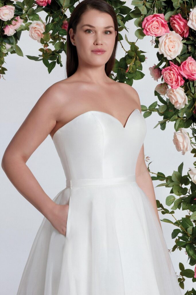 Sweetheart Ball Gown with Clean Mikado Bodice